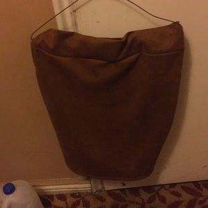 Tan pencil skirt only worn once good condition